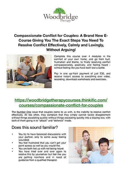 Compassionate Conflict for Couples Local Counselling Centre