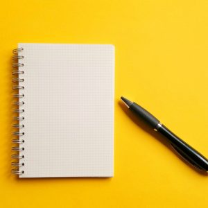 Gratitude note pad and pen